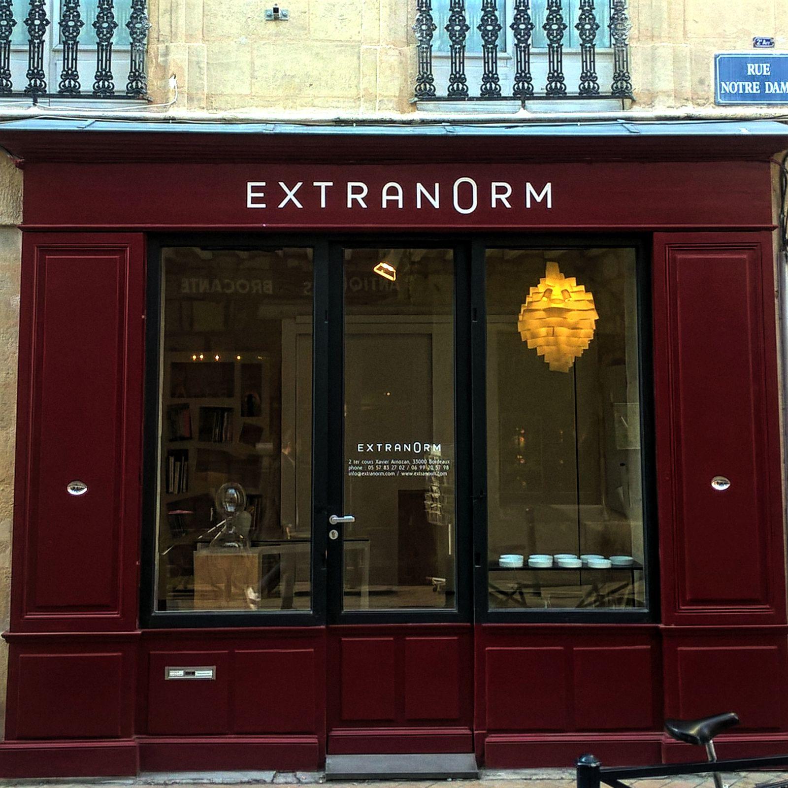Extranorm boutique rue notre dame bordeaux chartrons design